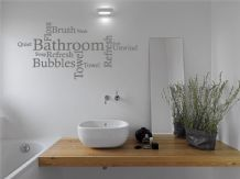 Bathroom Wall Quote - Word Cloud, Wall Art Sticker, Decal, Modern Transfer